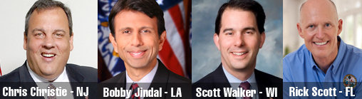 Photos of Republican Governors: Christie, Jindal, Walker, Scott