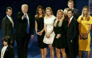 The Trump family on stage