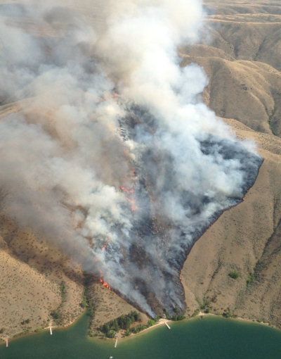 Not my aerial photo of the Turner Gulch fire, 2013