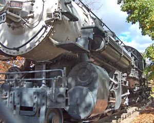 Union Pacific 2295, rusting in Julia Davis Park in Boise