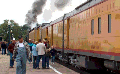 Union Pacific excursion train and live steam in Boise, 2005