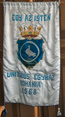 Banner in the Bishop's board room in Kolozsvár