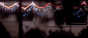 The neighbors' 4th of July 'bunting', in lights