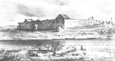 Drawing of Ft. Boise from 1851, probably by William Henry Tappan
