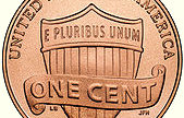 The reverse side of a 2010 penny, cropped