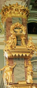 Detail of pulpit, Catherine's chapel on Peter & Paul fortress