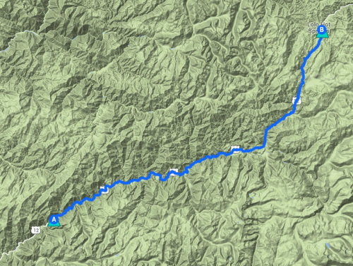 Map of day #3, Greenflat to Lolo Hot Springs